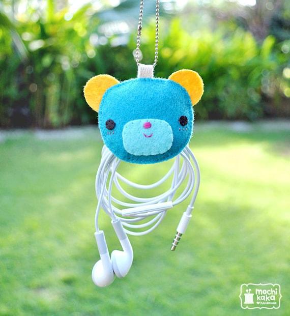 Blue Bear electric wire keeper & keychain.