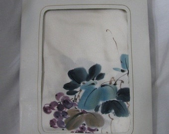 Gorgeous Vintage Hand Painted Asian Pure Silk Scarf in Original box