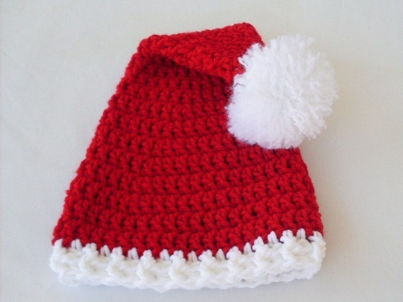 Baby Santa Hat, Toddler Santa Hat, Christmas Hat, 0 to 3, 3 to 6, 6 to 12 months, 1 to 3 years