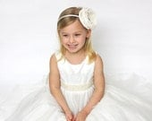 Pretty as a Picture Children's White Peony Flower Headband