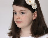 Pretty as a Picture Children's Hand Dyed Vintage Ivory Flower Headband