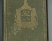 Peter and Wendy, J. M. Barrie, Rare Antiquarian, Antique, Vintage Book, 1st edition, 1st impression, Illustrated by Bedford