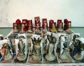 Paper Mache Chess Set