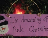 shabby chic pink christmas ornament gift