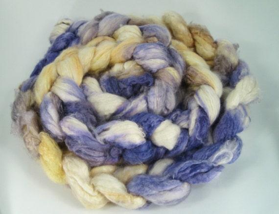 50/50 Cashmere Silk Roving Honey Violet 4.2oz