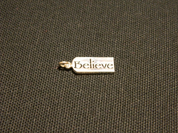 "Sterling Silver ""Believe"" Charm"
