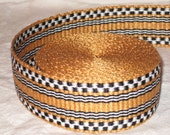 Gold, black, and white hand-woven inkle trim (over 14 feet)