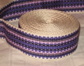 Cream, lavender, purple, and black hand woven inkle trim (over 14 feet)