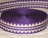 Purple and cream inkle trim (over 14 feet - handwoven)