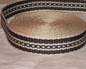 Grey, navy blue, and cream hand woven inkle trim (over 14 feet)