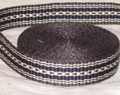 Grey, navy blue, and white hand woven inkle trim (over 14 feet)