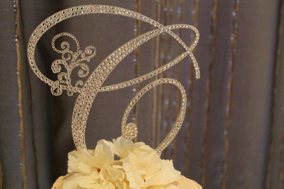 initial cake toppers items similar to 6 quot monogram cake topper on etsy 5155
