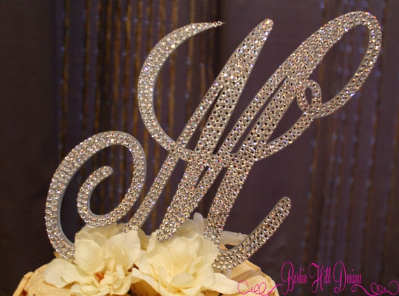 letter cake toppers items similar to 6 quot monogram cake topper letter 5506