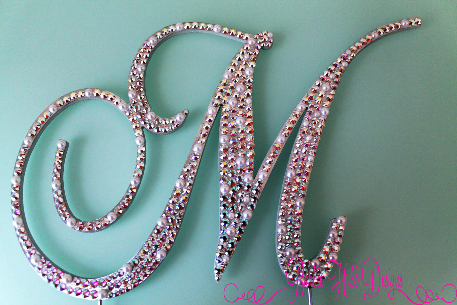 Wedding Cake Toppers Letter M : Items similar to 6