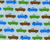 Pooches and Pickups Small Pickup Spring-  SPECIAL PRICE on ONE yard cuts