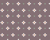 Flowers on Brown from Hello Pilgrim by Lizzy House - Half Yard