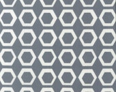Honeycomb in Grey from Stockholm by Robin Zingone - Half Yard