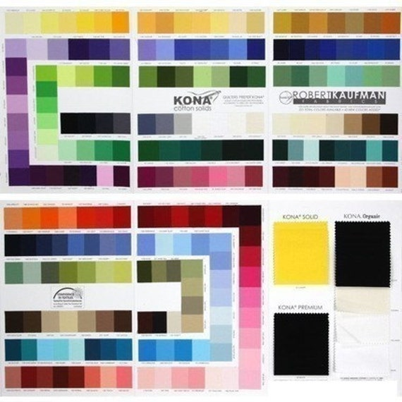 NEW Kona Solids Color Card from Robert Kaufman - Includes 28 NEW colors