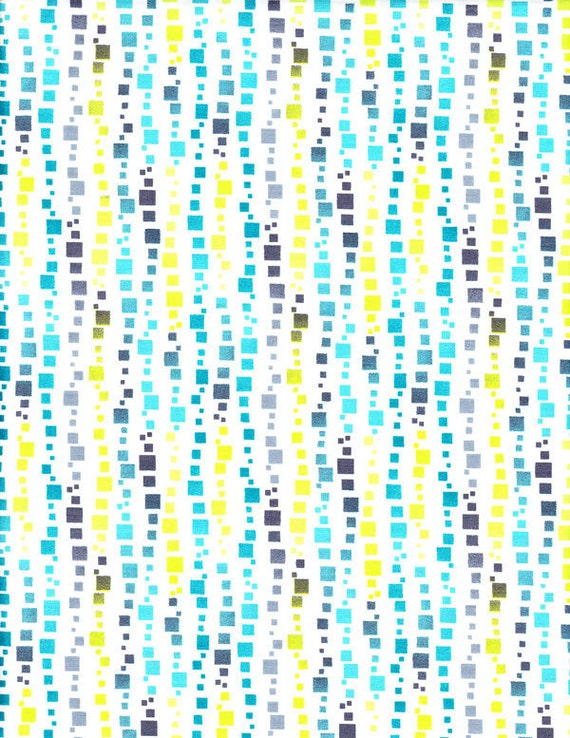Anthology Fabrics Theory Squares in Seaside - SPECIAL PRICE on ONE Yard Cuts