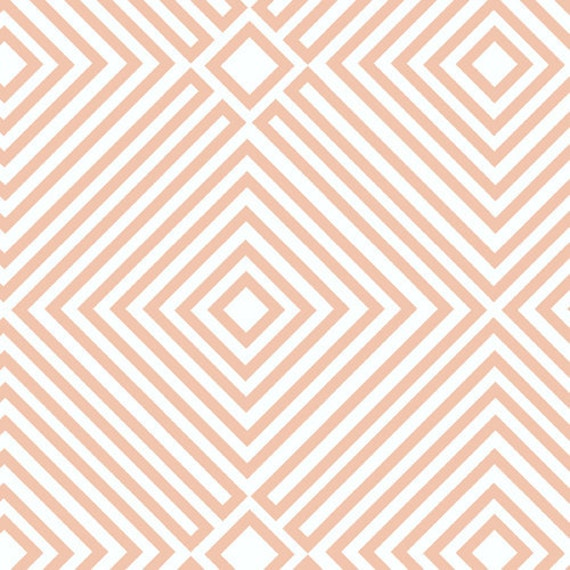 Illusion in Orange from 1001 Peeps by Lizzy House- Half Yard