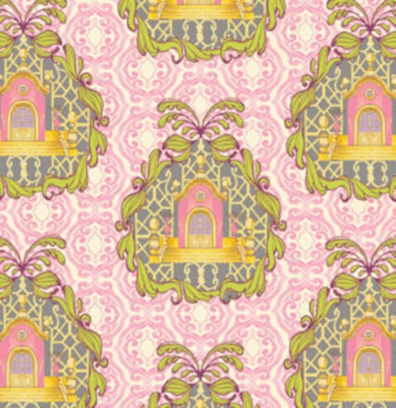The Homestead in Cotton Candy from Pernilla's Journey by Tina Givens for Free Spirit Fabrics- Fat Quarter