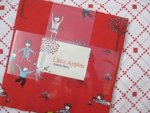 Little Apples by Aneela Hoey for Moda - SPECIAL PRICE Charm Pack
