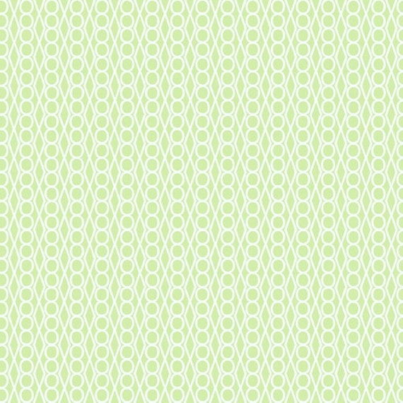 Jewels in Light Green from Outfoxed by Lizzy House -Fat Quarter