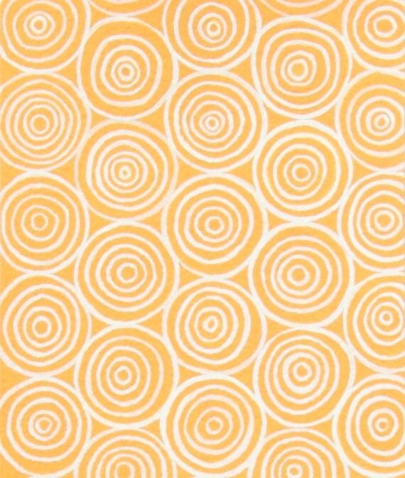 Garden Spiral in Apricot by Alexander Henry Fabrics- Fat Quarter