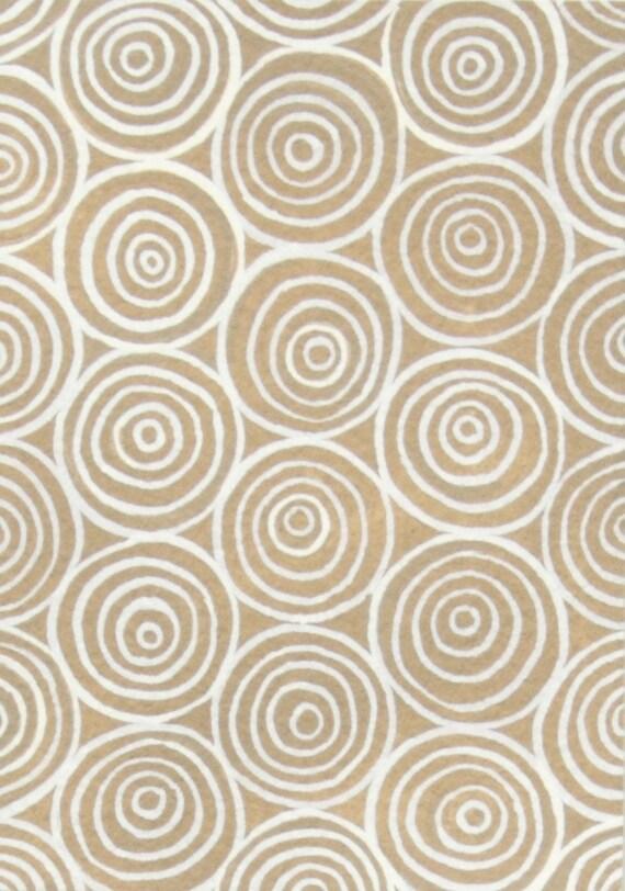 Garden Spiral in Chocolate by Alexander Henry Fabrics- Half Yard