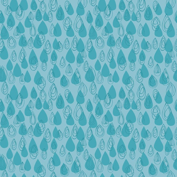 Raindrops in Turquoise from Preeti by Jessica Swift -Fat Quarter