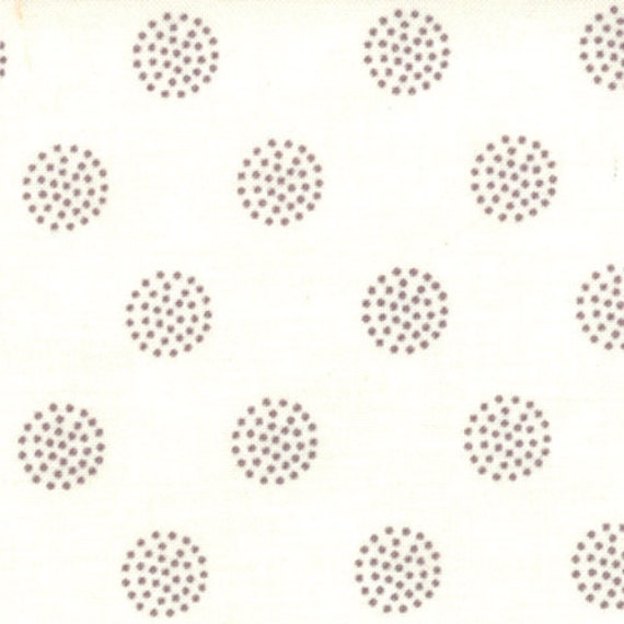 Dot Circles in Vanilla Graphite from Reunion by Sweetwater - Fat Quarter