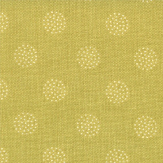 Dot Circles in Key Lime from Reunion by Sweetwater - Half Yard
