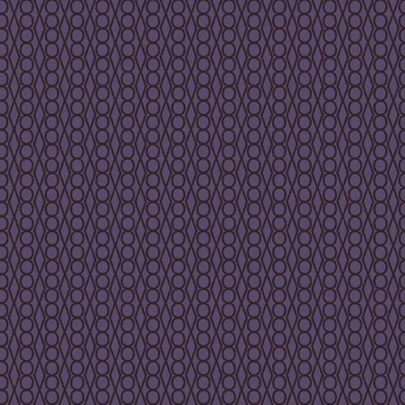 Jewels in Plum from Guising by Lizzy House - Half Yard
