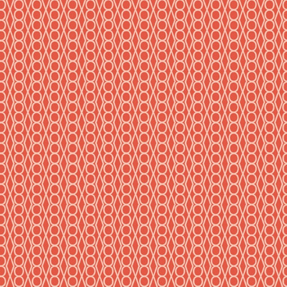 Jewels in Orange from Guising by Lizzy House - Half Yard