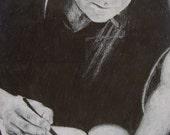 SAMPLE- Custom Portrait in Ebony Pencil
