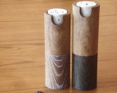 Peppermill and salt grinder white oak set pepper mill