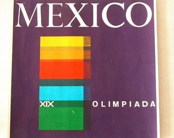 Olympic Poster design, 1968. Summer Olympics XIX, Mexico City