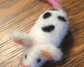 Dalmation Mouse Woolygeeks Needle Felted Figure