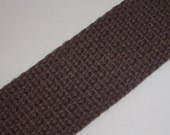 5m 1 inch GREY heavyweight cotton webbing for key fobs, straps, belts