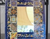 Mosaic Talavera Mirror Mexican Tile Stained Glass