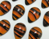 36 pcs 18x13 mm Tortise Pear Vintage Glass Cabochon Stones S-83 BULK SALE Vintage