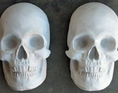 Plaster Full Face Skulls - Unfinished - Unpainted - You Make It - Made to Order - Front Page Etsy