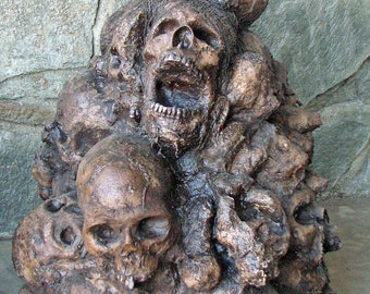 Skull Pile - Halloween, Horror, Haunted House, Photography - Movie Quality Props