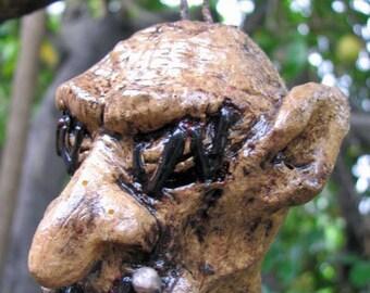 Skinz - Shrunken Troll Head Horrornament 5 - Fantasy Horror Art Doll