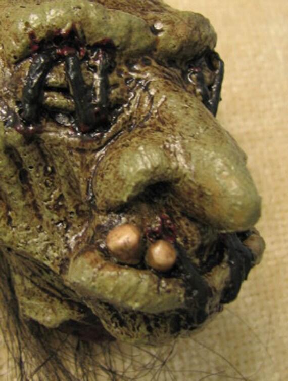 Shrunken Troll Head Horrornament 3