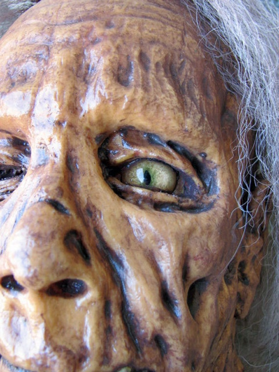 """The """"Granny"""" Zombie  Severed Head Prop"""