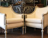 Authentic Antique Swedish Gustavian Arm Chairs, Hand-Carved, Spectacular SALE HUGE REDUCTION