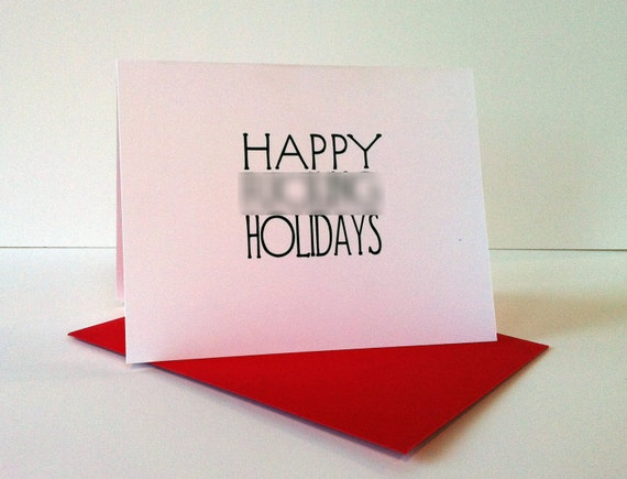 Happy F%cking Holidays greeting card