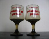 Pair of Passion Potion Glasses.  4 Sets Available. Honeymoon. Wedding. Cove Haven, Poconos. Pennsylvania
