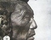 Native American / American Indian Book Illustration.  Blackfoot Medicine - Pipe Carrier.